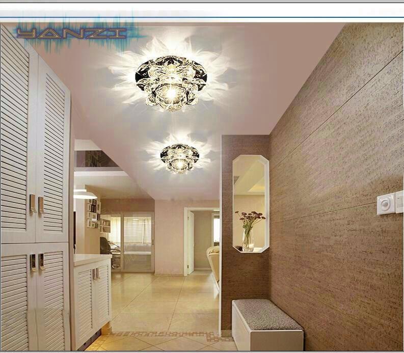 Купить Роскошный Свет Мода 3 Вт СВЕТОДИОДНЫЙ Потолочный Лампы Диаметр 120 мм Кристалл K9 Свет AC85-265V Crystal Потолочное освещение Бесплатная Доставка