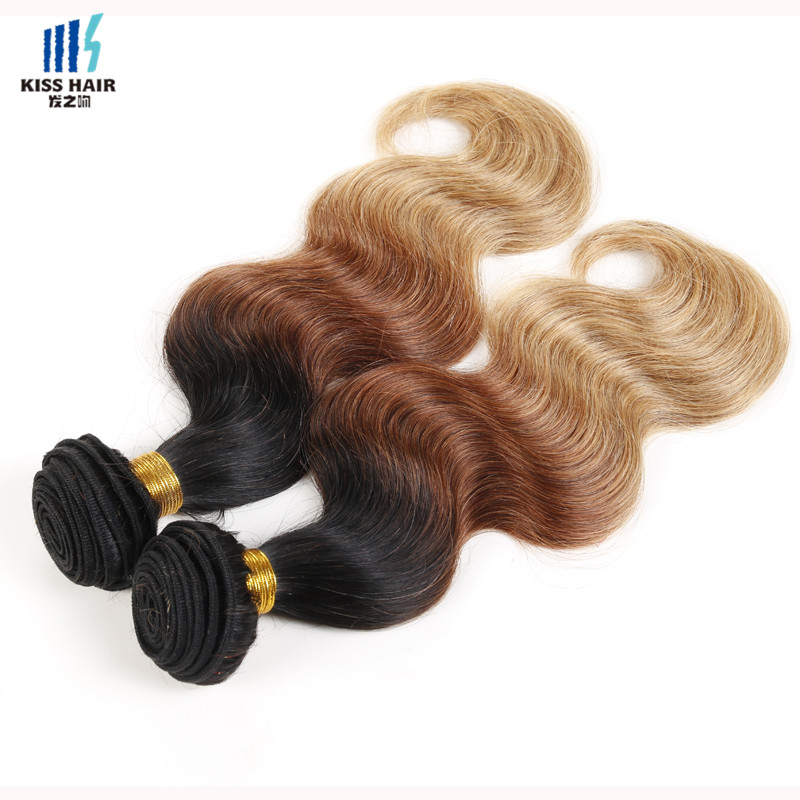 2 Bundle T1b/33/27 Ombre Hair Extensions 12-26inch Malaysian Body Wave Ombre Weave Kisshair Fashion 3 tone Colored Human Hair