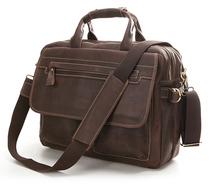 Mens messenger bags, Cowhide Leather bags, Briefcase, Handbag / Handbags, Portfolio, Genuine leather,laptop case, 14013(China (Mainland))