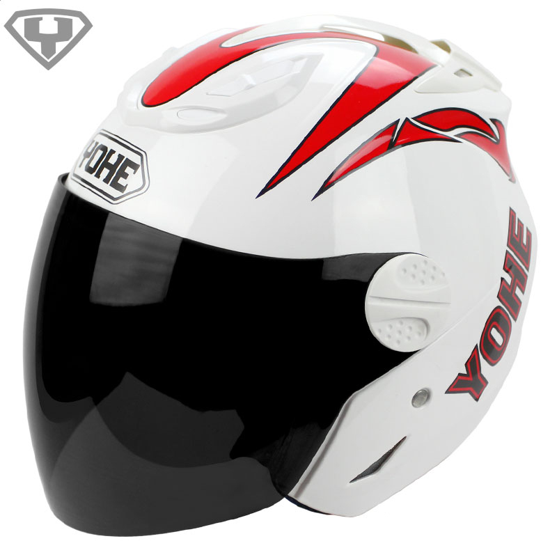 Free shipping 2015 Genuine YOHE motorcycle helmets summer electric bicycle half helmet men and women Moto Casco Capacete 601(China (Mainland))
