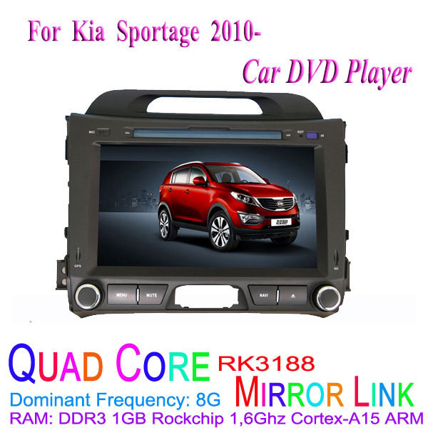 1024*600 Quad Core Android 4.4.4 Fit KIA Sportage 2010 2011 2012 2013 2014 2015 Car DVD Player GPS 3G Radio(China (Mainland))