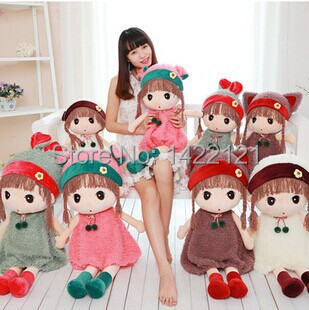 """Fashion Angela girl doll attractive cute stuffed doll plush girl toy 45cm 20"""" and 60cm 22"""" figure doll series soft toy(China (Mainland))"""