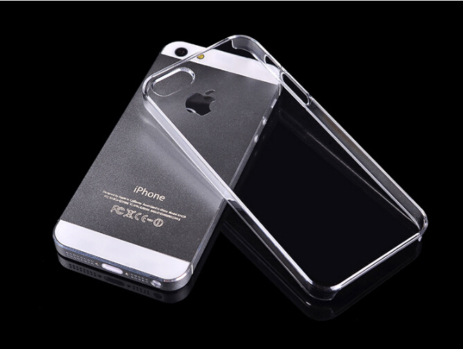 For iPhone 5s case Transparent Case Hard Plastic Crystal Clear Protective Cover Phone Cases For iPhone 5 5s(China (Mainland))