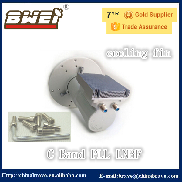 factory selling c band 5150MHz cooling fin PLL LNB with twin output(China (Mainland))