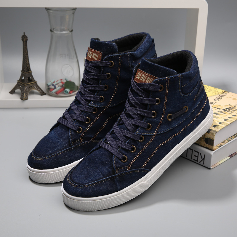2015 Hot Men Shoes Sapatos Tenis Masculino Male Fashion Spring Autumn Leather Shoe For Men Casual High Top Shoes Canvas Sneakers<br><br>Aliexpress