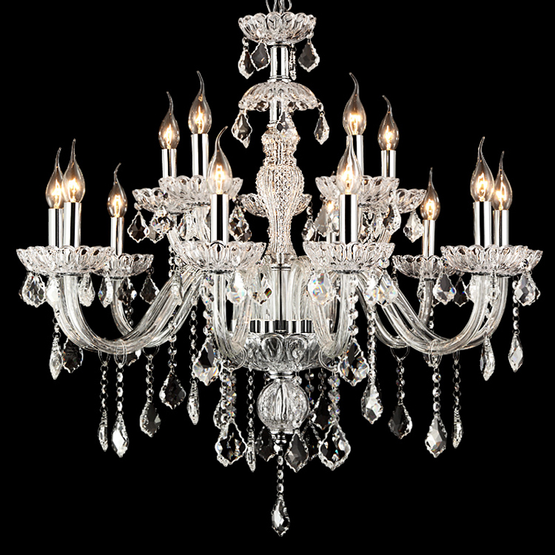 15lights bohemian crystal chandelier living room modern for Living room chandelier