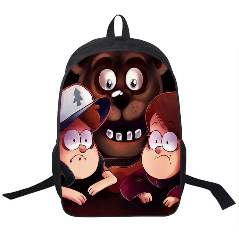 Anime gravity falls backpack five nights at freddys backpack boys