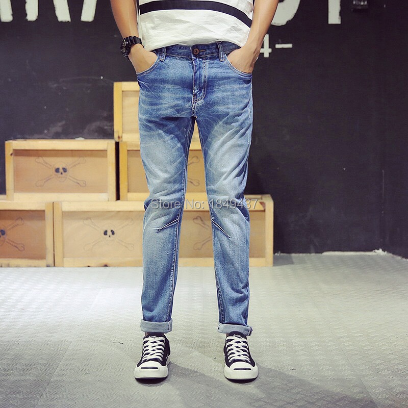2015 rock herren jeans italienische marken jeans f r m nner gerade herren jeans hose zwei. Black Bedroom Furniture Sets. Home Design Ideas