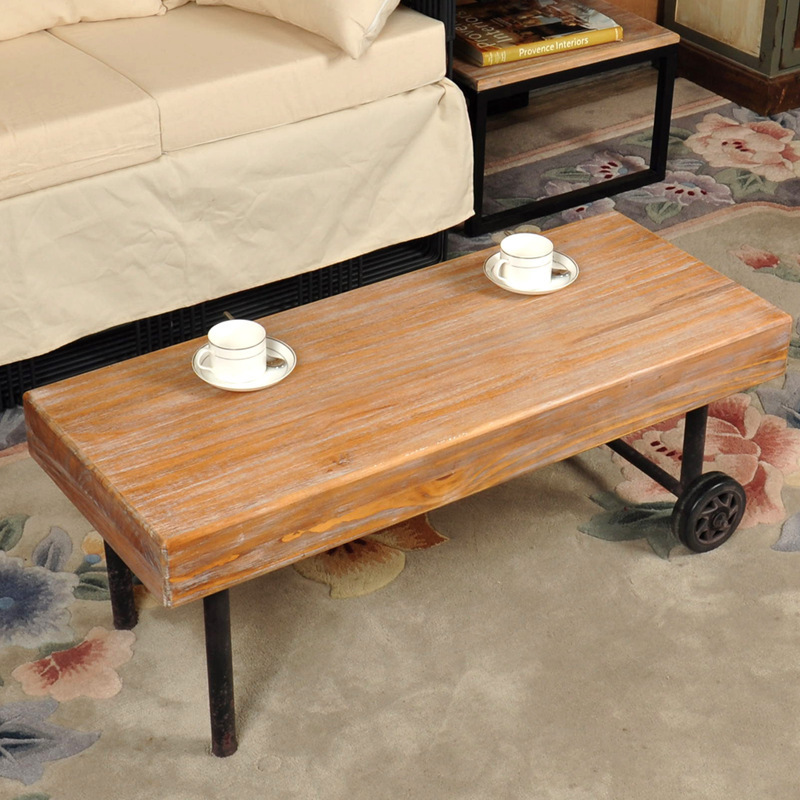 Rollins Industrial Loft Bronze Iron Coffee Table: LOFT American Country To Do The Old Retro Industrial