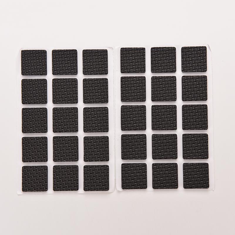 1Set=48pcs Square Multifunction Black Self Adhesive Furniture Leg Table Chair Sofa Feet Floor Non-slip Mat Sticky Pad Protector(China (Mainland))