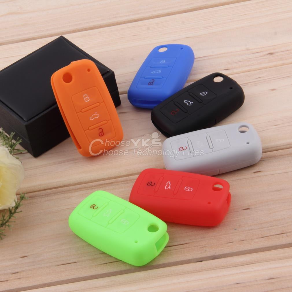 Silicone Car Auto Remote Key Cover Case For Volkswagen VW Series YKS