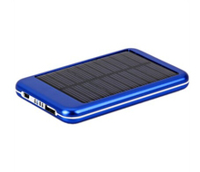 5000mAh Pocket Solar Panel Power Bank Charger Battery for Mobile Phones iPhone iPad Samsung (Blue)(China (Mainland))