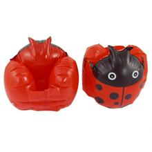 In Stock,Pair Kids Beach Ladybug Print Inflatable Float Swimming Arm Bands Red Black(China (Mainland))
