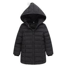 1-8 лет 2018 Новый весна-осень Дети свет тонкие пальто вниз хлопка куртки для девочек с капюшоном, с подкладкой зимняя одежда для маленьких дево...(China)