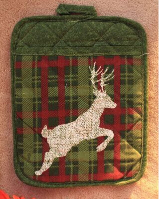 potolders with pocket western table mat Christmas heat mat dining table mat dish pads bowl mat water wash(China (Mainland))
