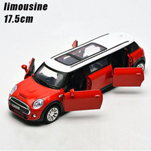 Buy 1:32 kids toys extended limousine metal toy cars model pull back car miniatures gifts boys children for $16.00 in AliExpress store