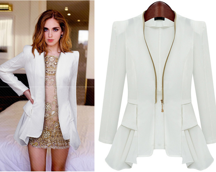Images of Ladies White Blazer - Reikian