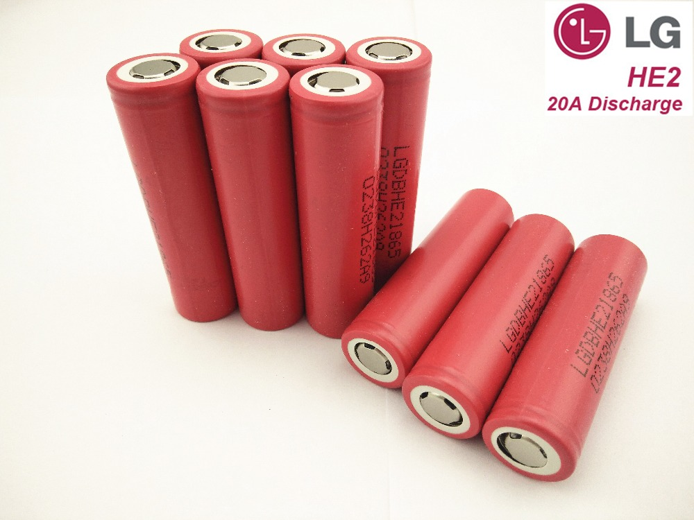 10PCS/LOT LGHE2 2500mah New 100% Original 18650 Battery ICR 18650HE2 Rechargeable Battery For Electronic Cigarette Free Shipping<br><br>Aliexpress