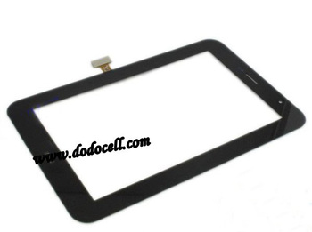 5pcs/lot Touch Glass panel For Samsung Galaxy Tab 7.0 Plus P6200 P6210 touch screen digitizer with logo free shipping