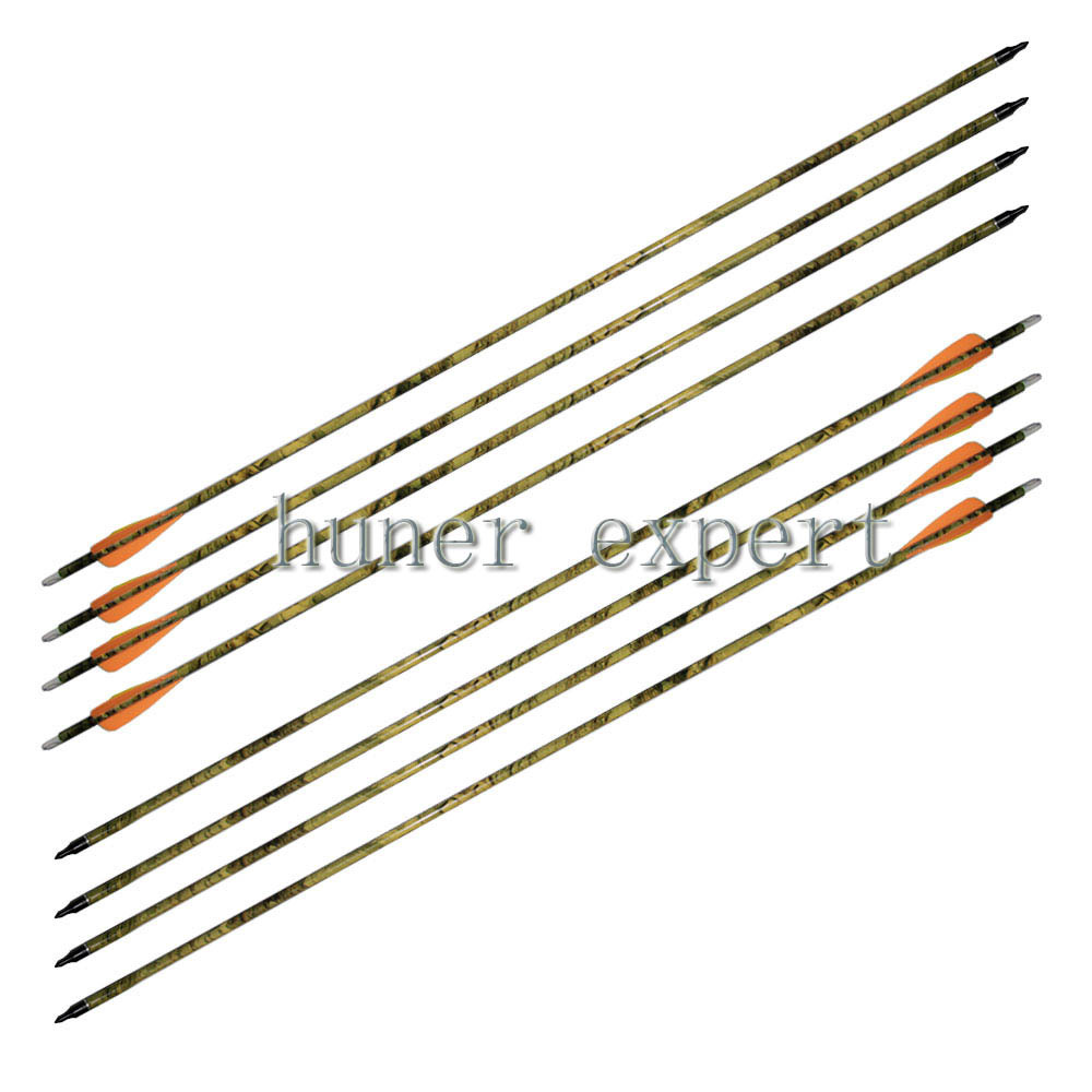 Фотография 16pcs camo hunting carbon arrow 31