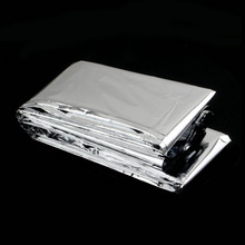 Waterproof Emergency Rescue Space Foil Thermal Blanket Sliver Free Shipping(China (Mainland))