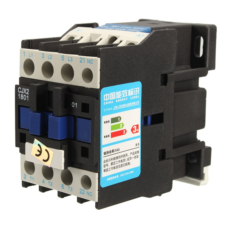 New Arrival AC Contactor Motor Starter Relay CJX2-1801 3 POLE+1NC 220V/380V 18A COIL 4/7.5KW Favorable Price(China (Mainland))