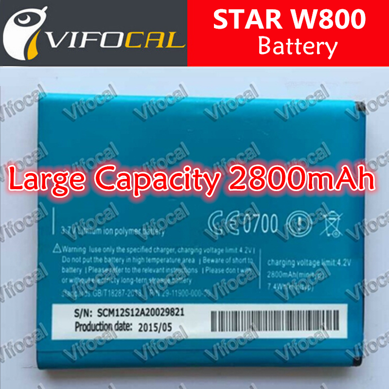 STAR W800 battery In Stock 100% Original 2000Mah Battery For STAR W800 Smartphone + Free Shipping + In Stock