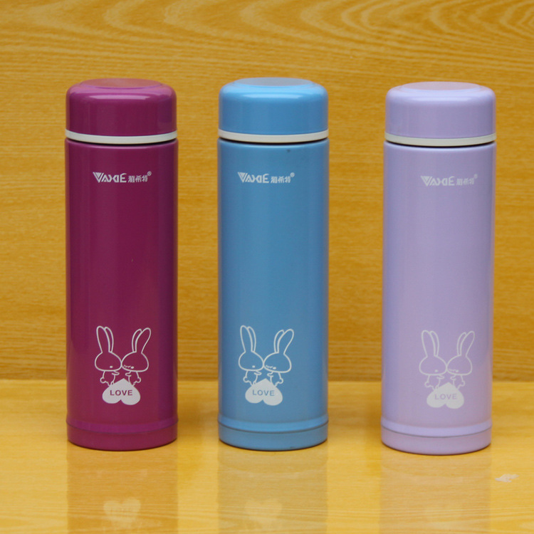 8002 stainless steel vacuum insulation Cup 300ML cartoon child Miffy Gift Ms cups can be printed logo(China (Mainland))
