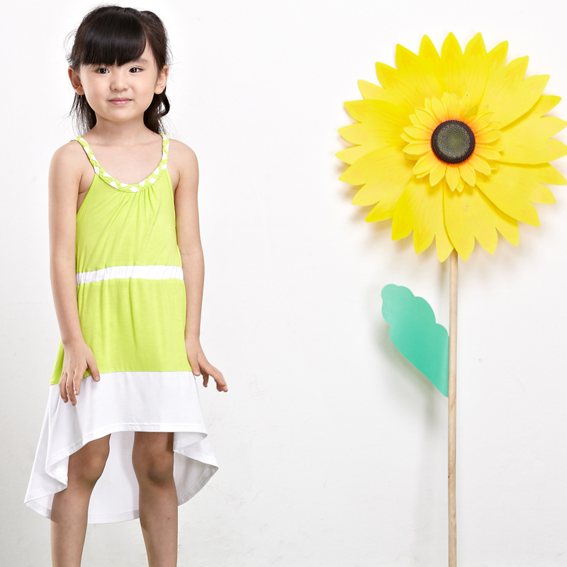 European designer girls clothing fashion casual beach long dress kids costume high quality 100% cotton girls summer dresses(China (Mainland))