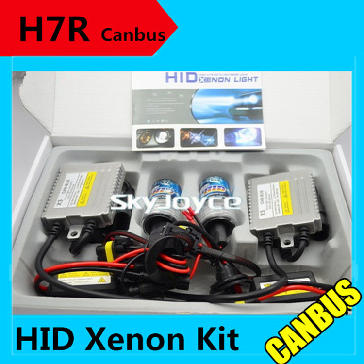 Freeshipping H7R metal base 35W 12V hid canbus kit H7R xenon hid kit error free ballasts H7R canceller headlight coating layer(China (Mainland))