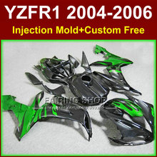 Buy Custom ABS Injection motorcycles fairings kit for YAMAHA 2004 2005 2006 YZFR1 YZF1000 YZF R1 04 05 06 green black fairing parts for $399.90 in AliExpress store