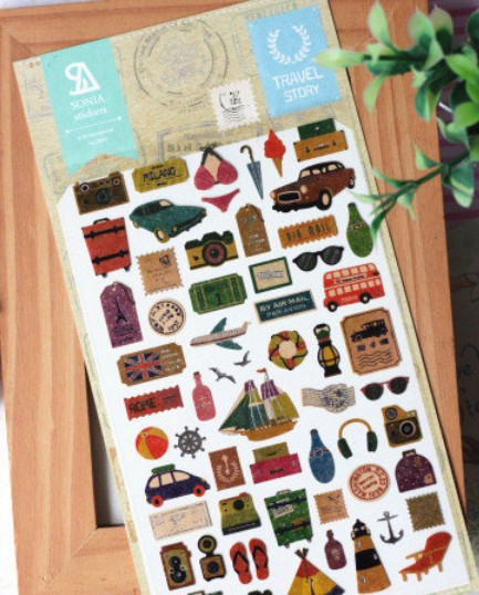Free Shipping/New DIY Multifunction Travel story paper sticker/Korea decoration sticker/Wholesale<br><br>Aliexpress