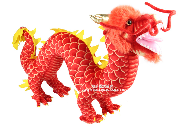 free shipping,stuffed toy ,Chinese red Dragon plush toy mascot dragon 90cm throw pillow ,birthday gift d9225(China (Mainland))