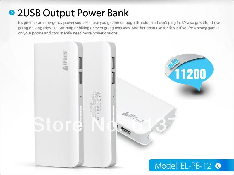 High Efficiency 11200mAh dual usb travel charger external power bank ipad torch function - Shenzhen Green Electronics Co.,LTD store