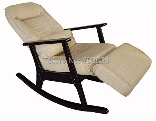 Wooden Rocking Recliner For Elderly People Japanese Style
