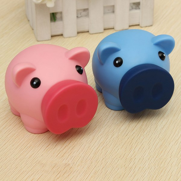 Portable cute plastic piggy bank saving cash coin money Plastic piggy banks for kids