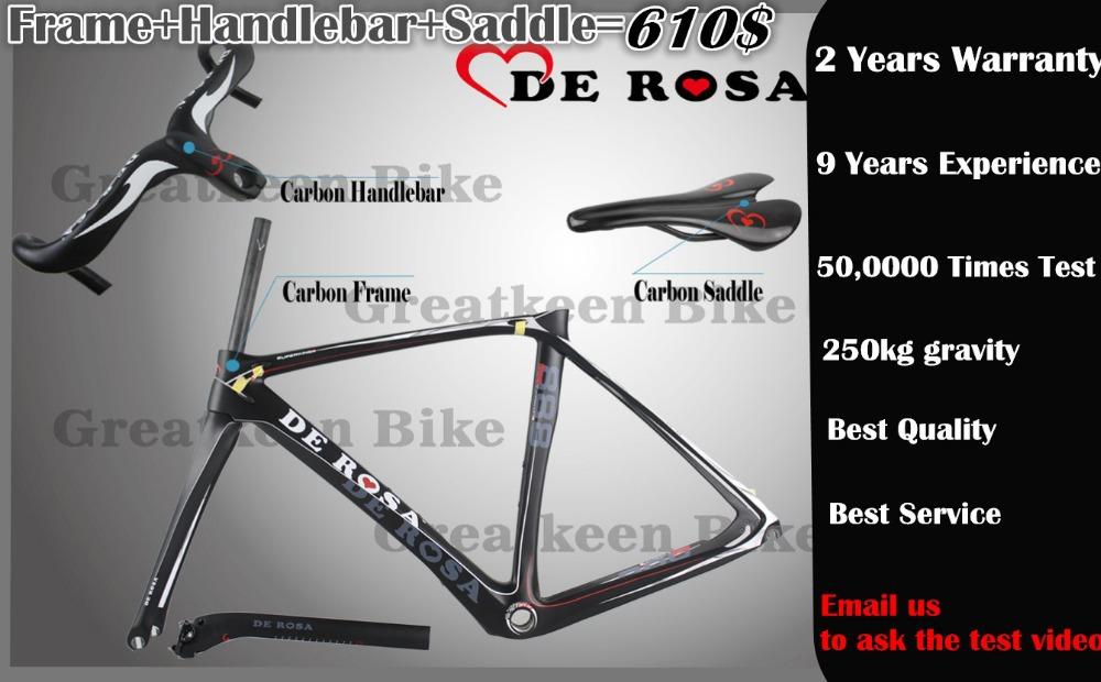 De Rosa carbon frame+handlebar+saddle t1000 Weave Carbon Road bicycle Frame bici telai in carbonio race bike carbon bike cycling(China (Mainland))