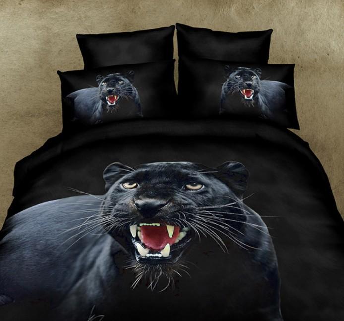 3d Black Panther Bedding Set Duvet Cover Super King Size