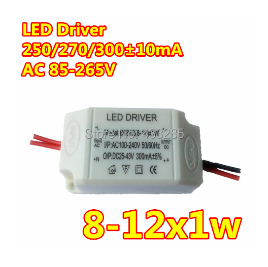 2014 Hot Sale 10pcs Led Drivers Power 8-12w Spotlights Ceiling Lights Constant Current To Drive The Plastic Shell Fire Retardant(China (Mainland))