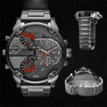 Men s Fashion Luxury Watch Stainless Steel Sport Analog Quartz Mens Wristwatch 3054 Free shipping