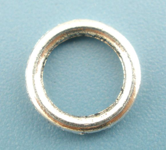 Retail 300PCs Antique Silver Soldered Closed Jump Ring 8mm Dia.Findings <br><br>Aliexpress