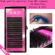 Buy S&C,High eyelash extension mink,individual eyelash extension,natural eyelashes,fake false eyelashes,1case for $3.00 in AliExpress store