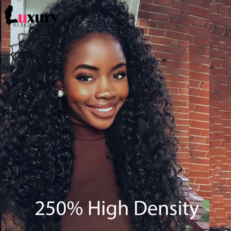 7A Full Lace Human Hair Wigs 250% Density Lace Front Human Hair Wig For Black Women Brazilian Natural Loose Curly Front Lace Wig(China (Mainland))