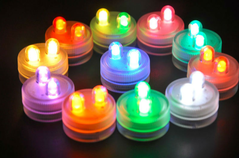 Wedding Centerpieces With Submersible Lights : Led Submersible Floralyte Tea Lights Centerpieces Flower for wedding ...