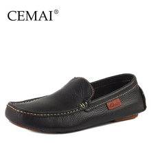 Handmade Genuine Leather Men Flats, Fashion Business Men Loafers, Casual Original Brand Leather Moccasins(China (Mainland))