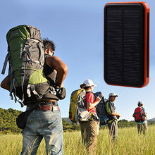 Waterproof solar power bank 30000mah bateria externa solar charger powerbank for all mobile phone for pad Fast shipping