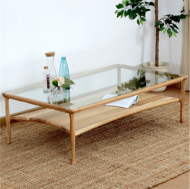Oak solid wood tea table / contracted and contemporary new product / coffee table(China (Mainland))