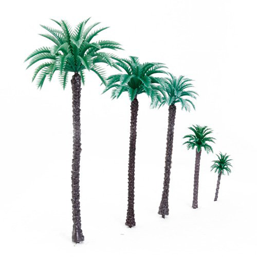 14Pcs 1.9 Inch - 6.6 Inch Model Coconut Palm Trees Layout Train Scale 1/50,Free Shipping(China (Mainland))