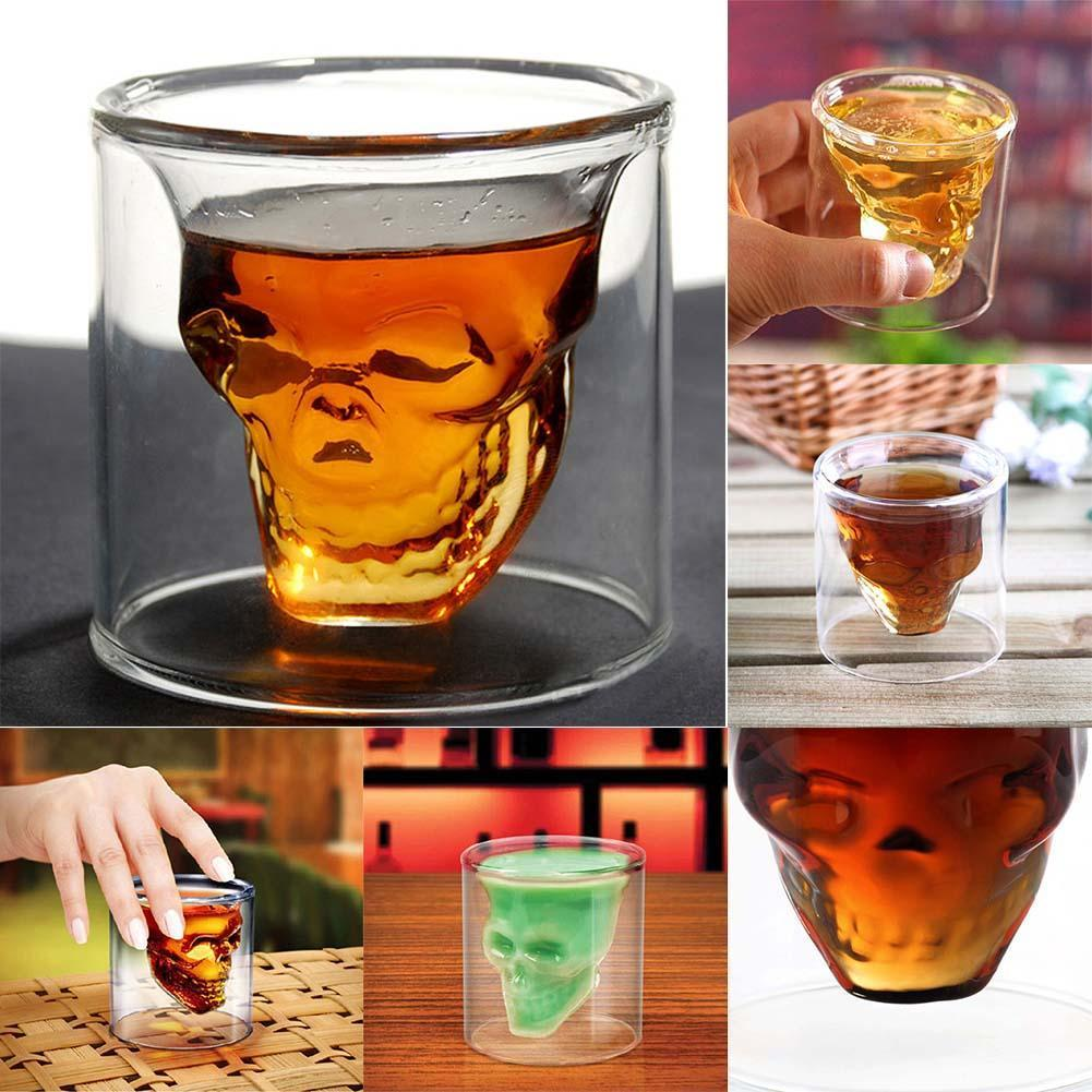 Party Creative 75ml Clear Shot Glass Crystal Skull Head Vodka Wine Cup Champagne Glasses PML(China (Mainland))