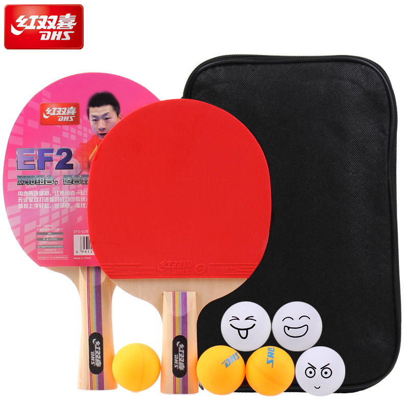 Table tennis double happiness table tennis ball Ping Pong Paddle Long/Short Handle Table Tennis Racket(China (Mainland))